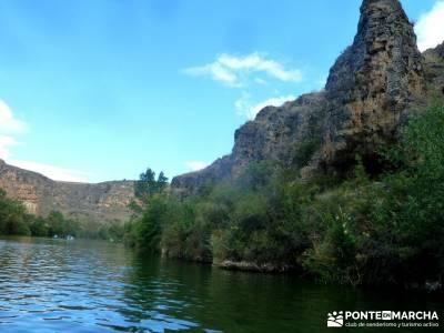 Piragüismo Hoces del Río Duratón,canoas; lavanda fotos;villareal de san carlos